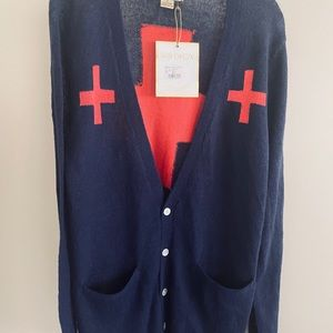 "Wildfox Perfect Cardigan ""Love Saves"" NWT Small"